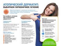 Схема поясняющая лечение атопического дерматита у детей